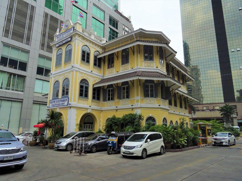 タイでのゴルフでお腹が空いたら…バンコクの高級タイ料理店「ブルーエレファント」の外観