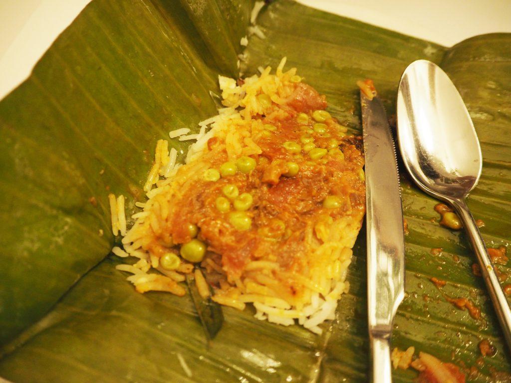 バンコクのインド料理レストラン「ガガン」の「グリーンピースカレー」