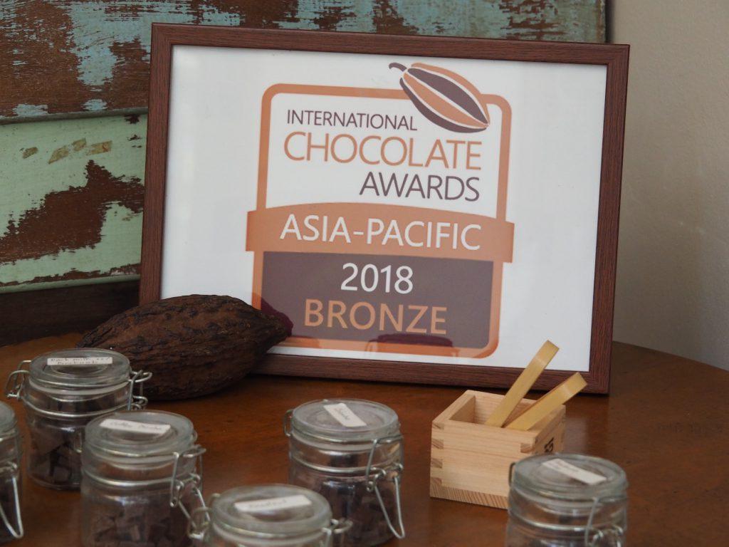 チェンマイ産チョコレートは昨年の「インターナショナルチョコレートアワード」にて銅賞を獲得
