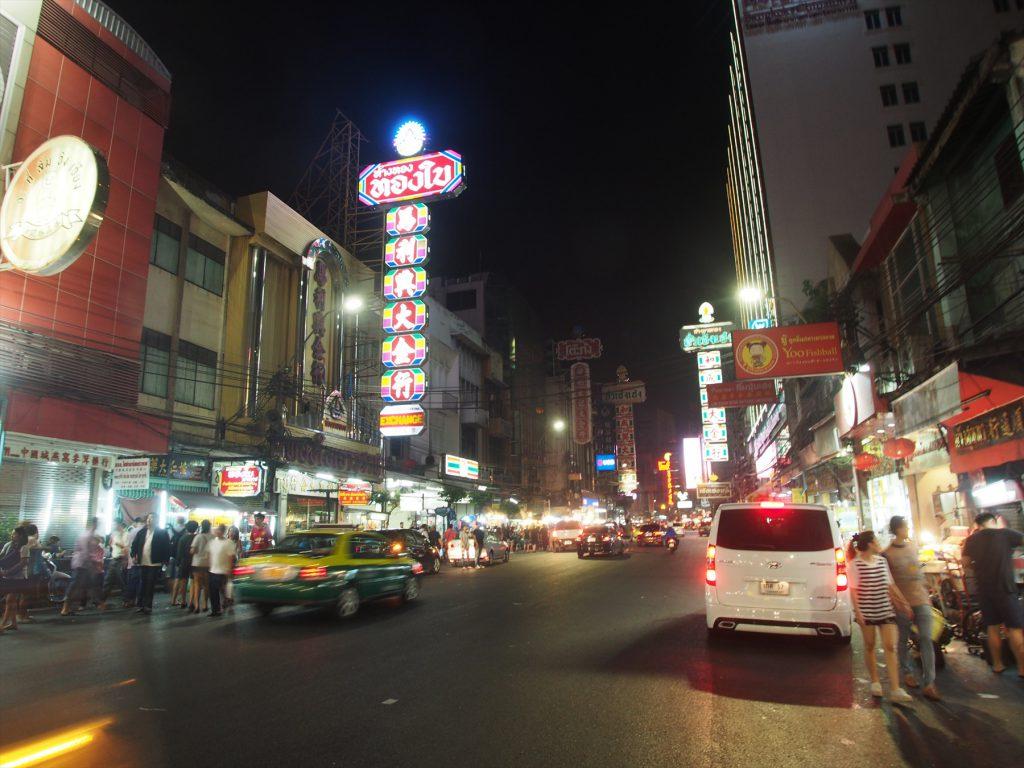 バンコクの中華街「ヤワラー(ヤワラート)」の夜景