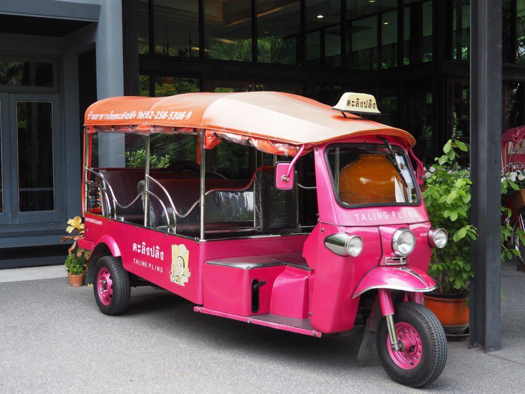 バンコクの一軒家タイ料理レストラン「タリンプリン スクンビット34店」のトゥクトゥク