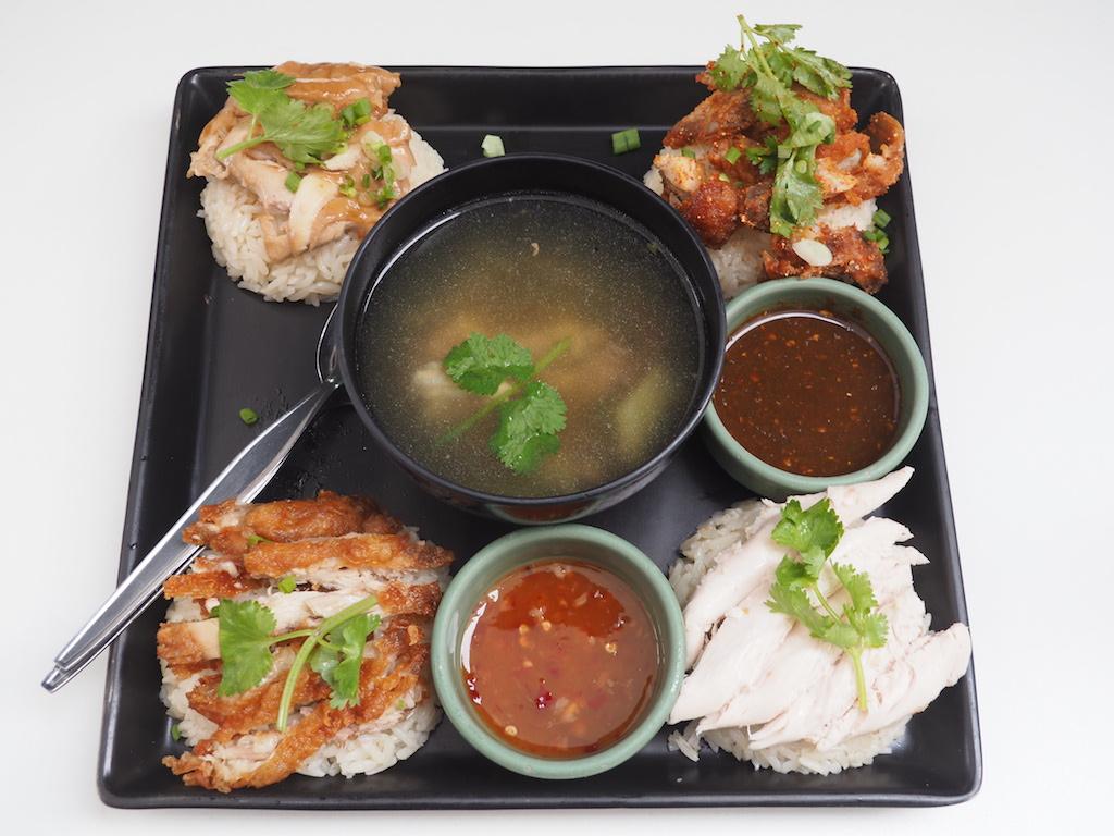 4種類のカオマンガイが一度に楽しめる!バンコク・アーリーで大人気の「ジュブジュブカオマンガイ」