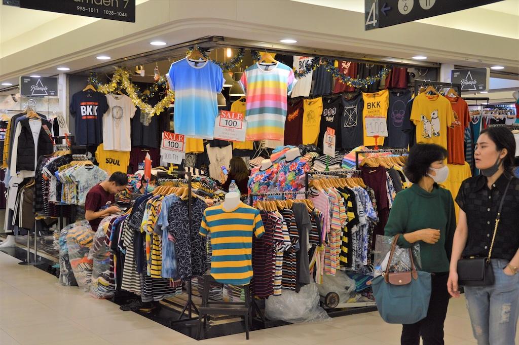 タイ人の日常的ファッション最先端を売る「プラチナム・ファッションモール」