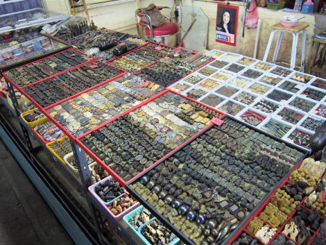 タープラチャン市場 プラクルアン露店