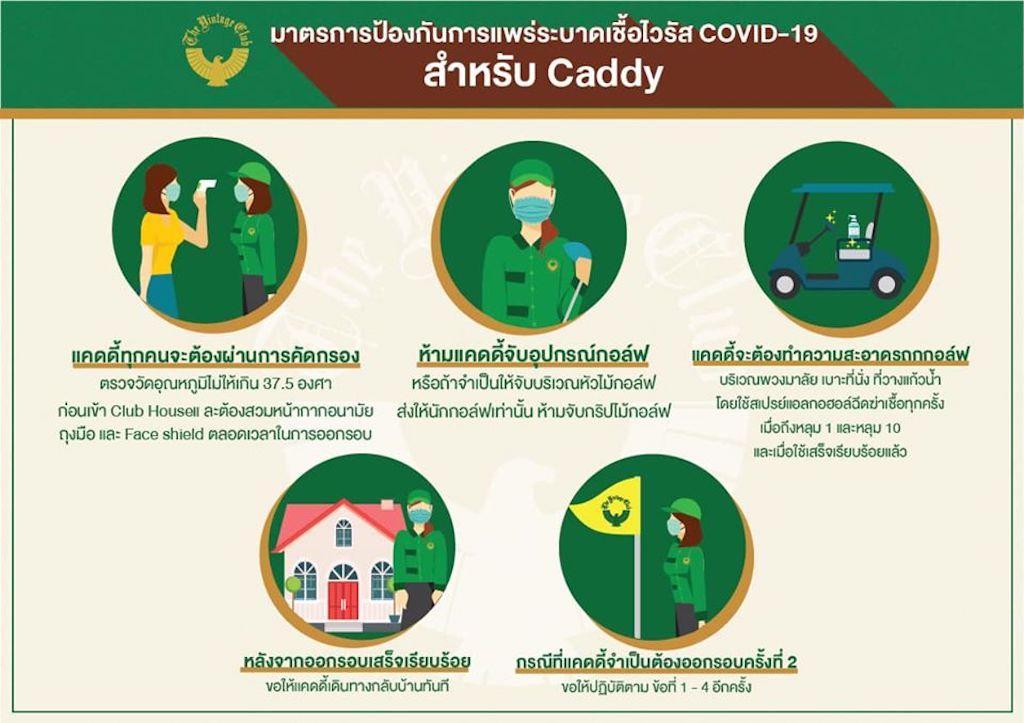【タイ・現地情報】5月3日から規制緩和で再開したゴルフ場での新型コロナウイルス感染防止のための様々な新しいルールと注意事項