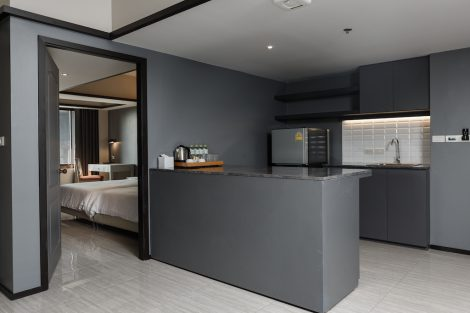 ホテル室内キッチン