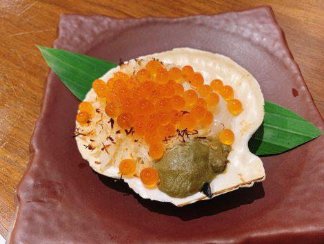 原始焼 蟹味噌