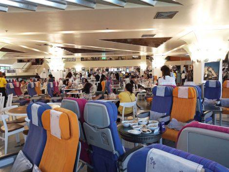 タイ航空カフェ 客席シート