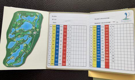 アユタヤゴルフ スコアカード