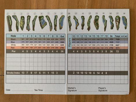 サイゴルフ スコアカード