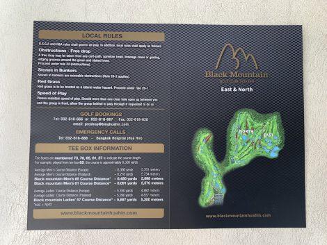 ブラックマウンテンゴルフ スコアカード
