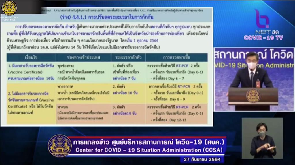 【タイ・現地情報】タイ政府・10月1日よりワクチン接種済みの入国者の入国後の隔離検疫を7日間に短縮